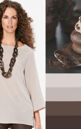 Моделі блузок шоколадних кольорів