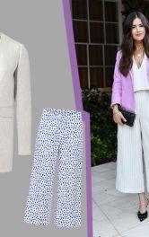 Модні образи для весни із широкими білими брюками