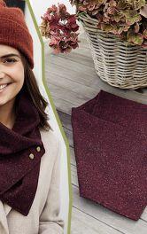 Как легко сделать шарф-снуд и шейный платок