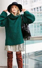 Пуловер оверсайз з трикотажу букле