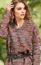 Викрійки пуловерів із в'язаного полотна