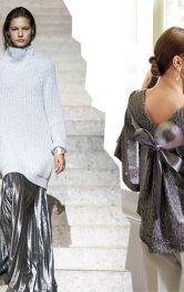 Одяг із сріблястих тканин