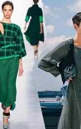 Модели одежды зеленого цвета
