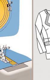 Как выполнить отстрочку и фигурную стежку на ткани