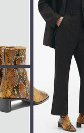 Чоботи і черевики з плямистим принтом і тисненням під пітона