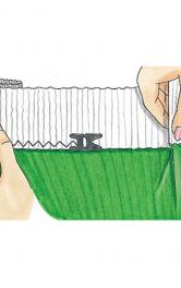 Як правильно пришивати еластичний пояс