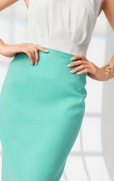 Промисловий спосіб пришивання пояса до спідниці і брюк