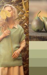 Моделі одягу у фруктових відтінках зеленого
