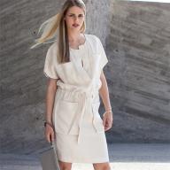 Як пошити літню сукню із застібкою поло