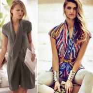 Як пошити блузку і сукню з шалевим коміром по одній викрійці