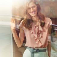 Як пошити блузку із суцільнокроєними воланами
