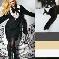 Черно-белые модели одежды