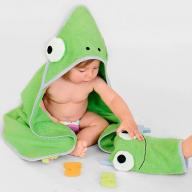 Банний рушник і махрова рукавичка для малюка власноруч