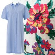 Декоруємо сукню-сорочку старовинною вишивкою