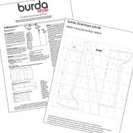 Страницы журнала с рисунками выкроек и инструкций