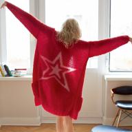 Як сплести модний кардиган із зіркою власноруч