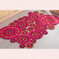 Як сплести килимок з круглих мотивів