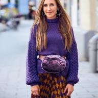 Як пошити модну оксамитову сумку на пояс