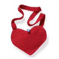 В'язана торбинка-сердечко для дівчинки