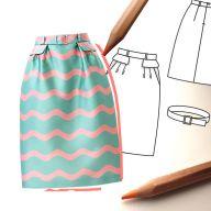 Разные варианты юбки «колокол»