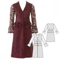 Як пошити мереживну сукню до свят