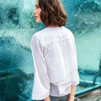 Шиємо блузу із застібкою поло і воланом на спинці