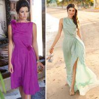 Шиємо відрізну сукню з косими складками
