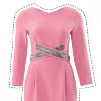 Шиємо сукню-футляр зі схрещеними планками