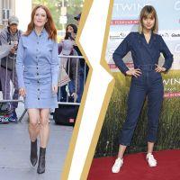 Модні джинсові сукні і комбінезони