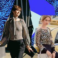 Дві дівчини в блузках з леопардовим принтом