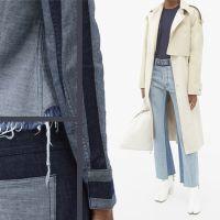 Одяг із джинсової тканини різних відтінків