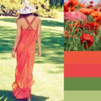Літні сукні в червоних кольорах