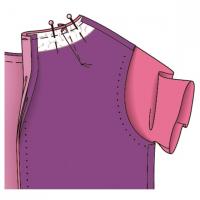 Як пришити підкладку до сукні з рукавами 384416fb76615