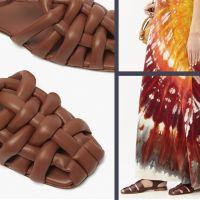 Модные сандалии с закрытым мысом
