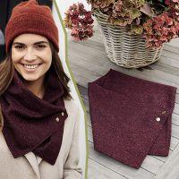 Як легко зробити шарф-снуд і шийну хустку