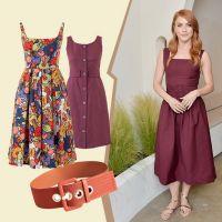 Теракотові сукні на літо