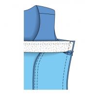 Як виконати єдину обшивку для горловини і пройм