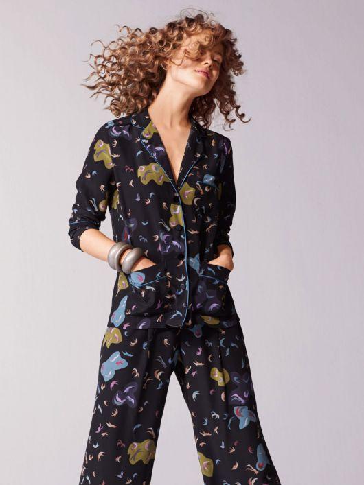 Блуза простора в піжамному стилі