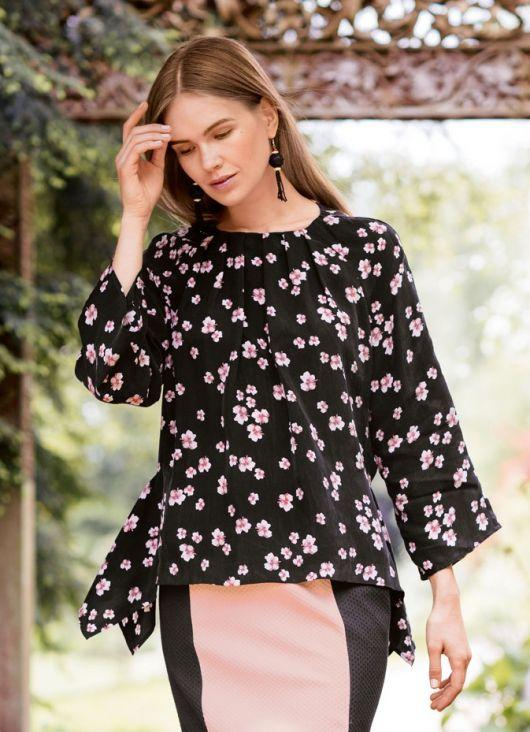Блузка з рукавами-реглан