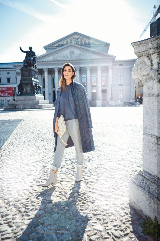 Елегантне пальто з суцільнокроєними рукавами