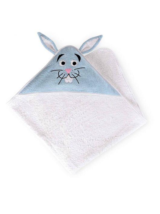 Рушник банний з капюшоном «Зайчик»