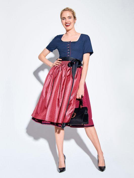 Сукня приталеного крою з фартухом