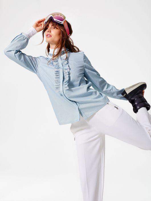 Блуза-сорочка прямого крою з оборками