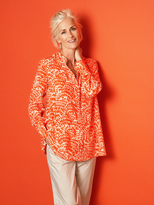Блуза А-силуэта рубашечного кроя