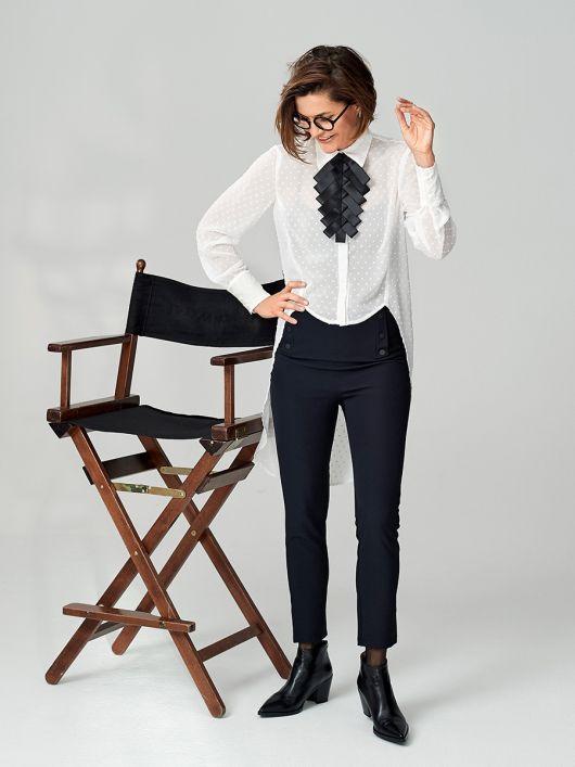 Блузка-«фрак» с удлиненной спинкой