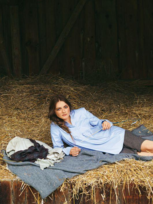 Блуза-сорочка з подвійними манжетами