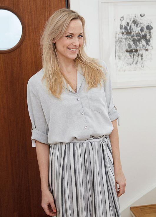 Блуза-сорочка прямого силуету