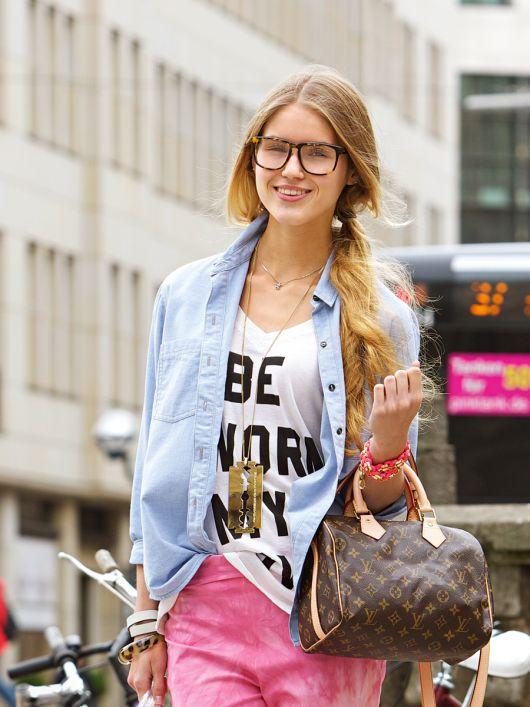 Блуза в стилі сорочки бойфренда