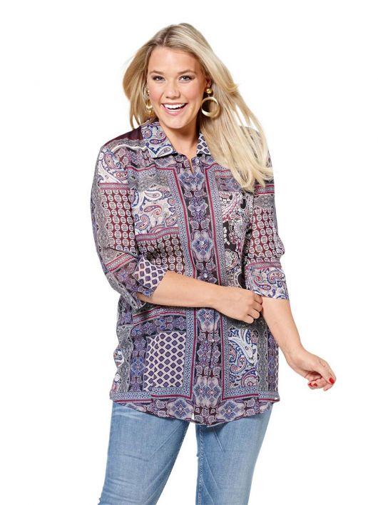 Блуза-сорочка з укороченими рукавами