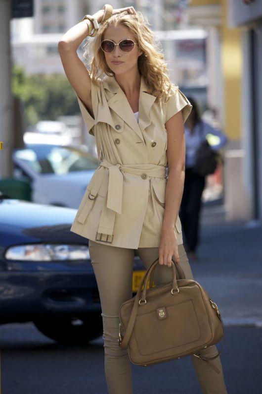 Блуза-жилет в стилі тренча